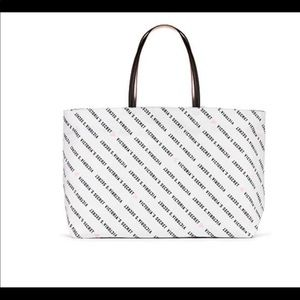 New VS blk/white tote